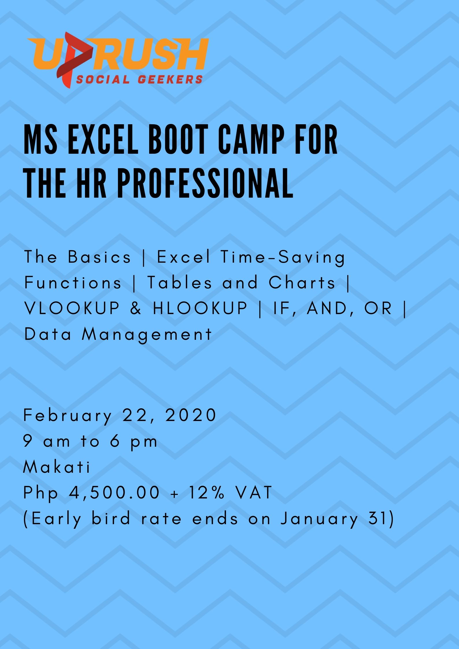 MS Excel Boot Camp