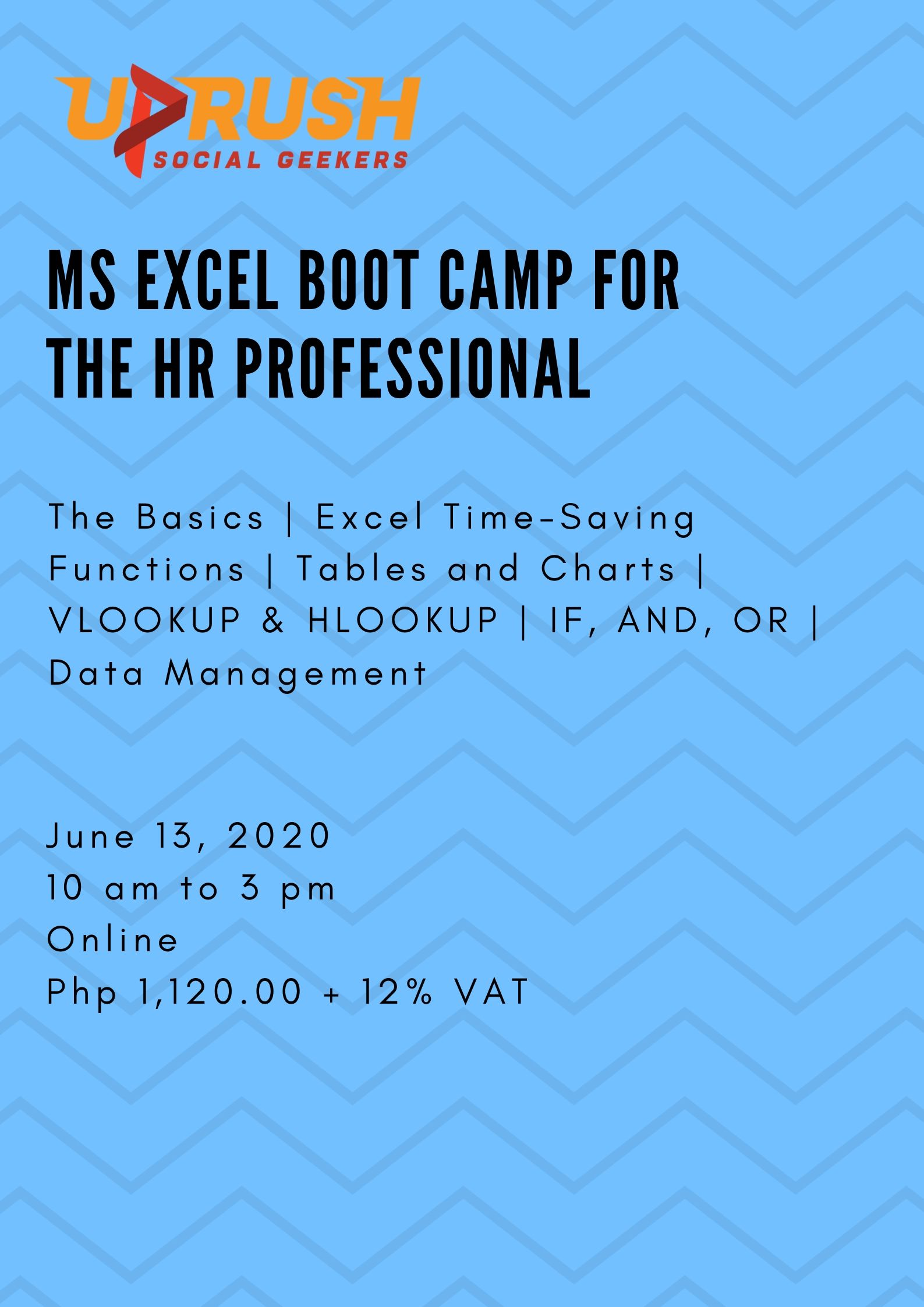 MS Excel Boot Camp for HR Professionals